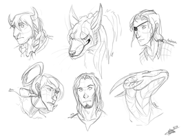 Sketchessssss by MadMeeper