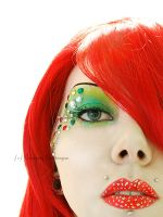 red n green glitter machine by Countess-Grotesque