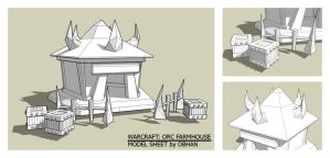 Orc Farmhouse Model Sheet by Obhan