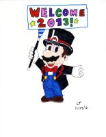 Mario Welcomes 2013 by L1701E