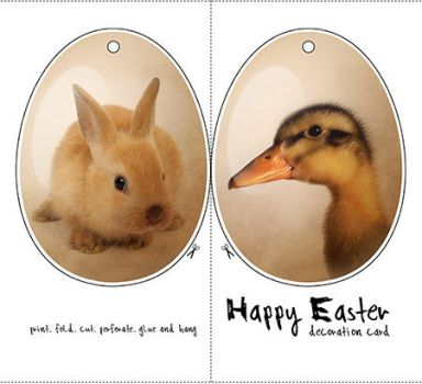 easter print decoration card by weberica