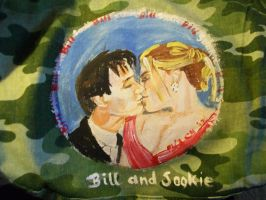 Anna and Stephen on a purse by fbforbill
