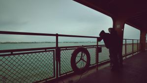 On The Ferry by AirPlaneVelociraptor