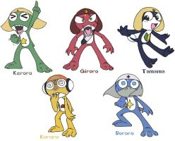 Fan art- Keroro Platoon by Yark-Wark