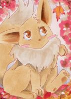 #503 ACEO Eeve Pokemon by uniquorned
