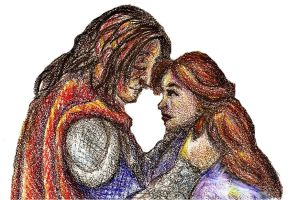 Sandor and Sansa by MademoiselleMeg