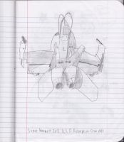 Hornet 202 Sketch by blackstormwarrior