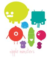 Nipple Monsters by stephanielok