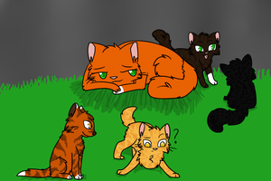 In the Nursery:Brambleclaw X Squirrelflight's kits by NnyFluff