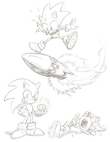 Sonic by mistermuck