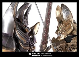 Confrontation: Kiba and Garo by Shoko-Cosplay