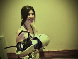 Chell Cosplay by mikuhatsune444