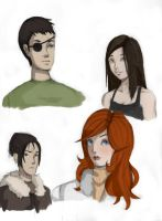 Character Sketch Dump by mandygugs