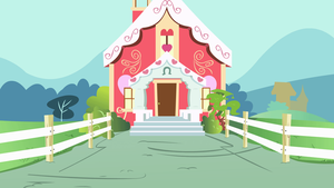 Ponyville Schoolhouse Exterior by YoshiGreenwater