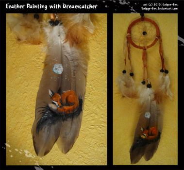 Feather Painting: Dreamcatcher by Culpeo-Fox