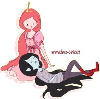 Adventure Time- Marceline and PB by Immature-Child02