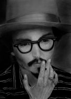 Johnny Depp with Tutorial by IsabelIntangible
