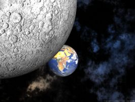 Earth viewed from the Moon by swarfega