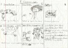 The 5 Cats of the Simpsons: original sketch by DeverexDrawer