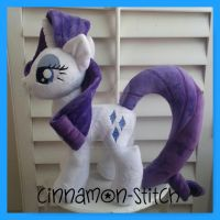 my little pony Plush Commission Rarity by CINNAMON-STITCH