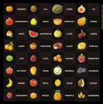 Pixel Fruit Collection by nuriko-kun