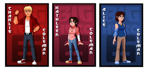 BH6OCs: Charlie, Kathleen and Alice Coleman by Aileen-Rose