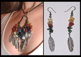 Gemstone + Feathers Combo 1 by DragonTreasureArt