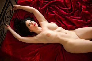 Nurse D'Vita on my bed by PerryGallagher
