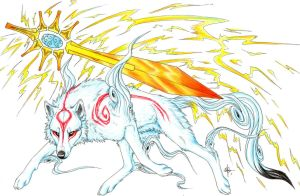 Thunderbolt Amaterasu by MayhWolf