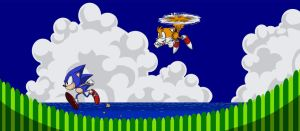 Sonic and Tails by Tamura