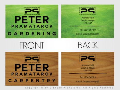 Business Card - Front and Back Example by EnkataPramatarov