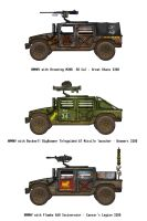 Fallout Humvees - Denizens of the Mojave by penguin-commando