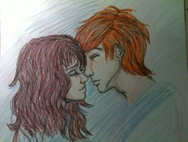 Ron and Hermione by Moony000
