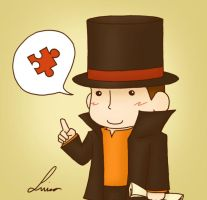 Chibi Professor Layton by Bluellu
