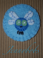 MLP Parasprite felt brooch by Blindfaith-boo