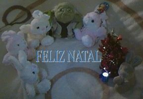 Merry Christmas Master Yoda and Plush Rabbit - 002 by jaycebrasil