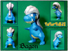 Bagon Papercraft by Skeleman
