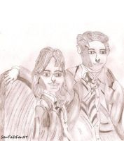 Sketch - Dramione by TheElementOfMagic