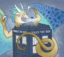 The Dragons Have The Phonebox by The-Bantering-Cat