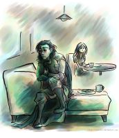 Loki -- 'Fallen Star' Fanart -- EAT UR TOAST SILLY by Tavoriel