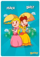 Peach n Daisy by renzus