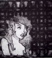Girl - Collagraph by TadpoleOfDoom