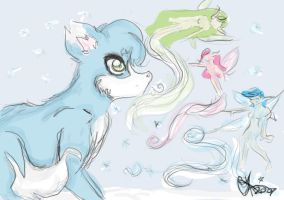 .:Touching Ice Colored:. by cinzia19