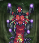 Commission - Eris the Arthropleuraian Naga by DinoBirdOfDoom