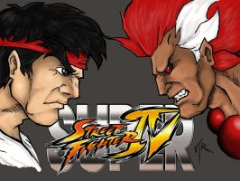 ryu vs akuma by DominicanFlavor