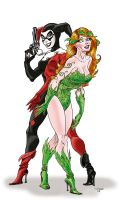 Harlequin and Poison Ivy by Aldagon
