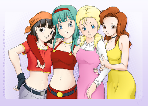 Dragonball GT Girls redesigned by PearFlower