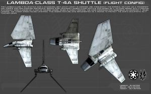 Lambda Class T-4a Shuttle ortho [2][New] by unusualsuspex