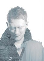 Text Art - THOM YORKE by Bl4k