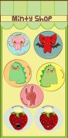 Button Badges by Minty-Kitty-Art